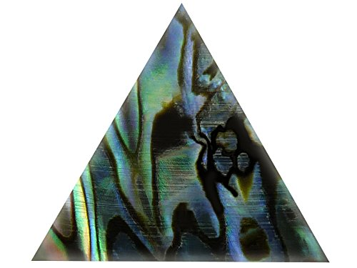 Incudo Precision IP001811 20mm Abalone Triangle Inlays - Green (Pack of 10)