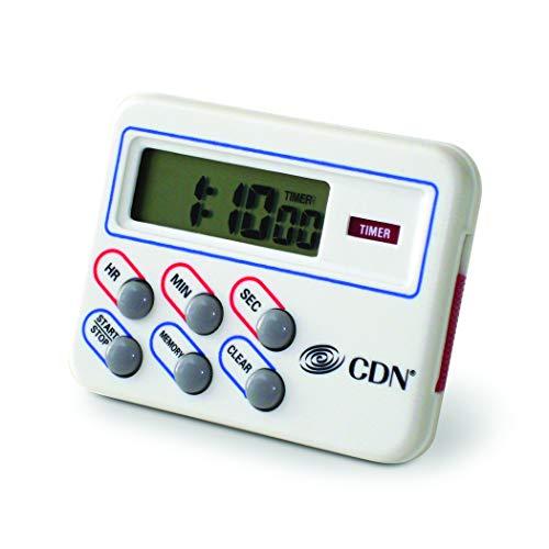 CDN TM8 Digital Timer and Clock Memory Feature, 6.8 x 4.5 x 0.9 inches, Cream