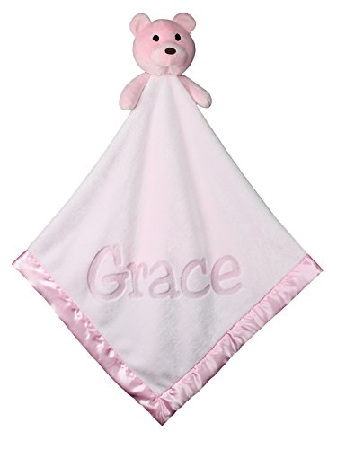 - Large Ultra Plush Personalized Teddy Bear Baby Blanket Gifts, 40x40 Inch (Pink), Boy or Girl