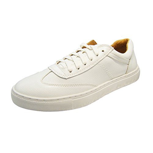 Antiordin Unisex Genuine Leather Sneakers Shoes Women and Men Trainers Size 6.5 - Genuine Leather Women Sneakers