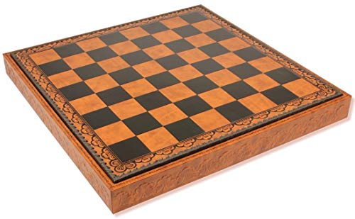 Black Leatherette Chess - Brown & Black Leatherette Chess Case - 2