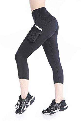 b7230f863af9b Annjoli-Womens-Workout-Running-Leggings-Yoga-Capris-Pants-