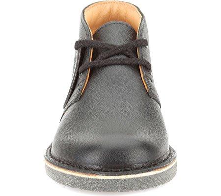 Clarks Junior Schwarz Leder Desert Stiefel