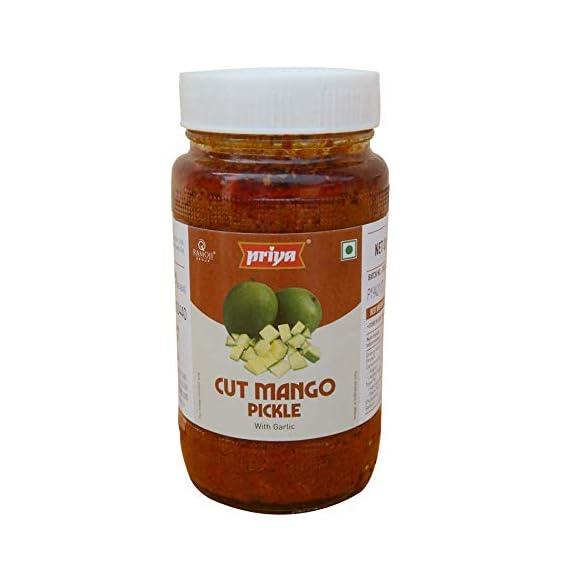 Priya Cut Mango Pickle with Garlic, 500g