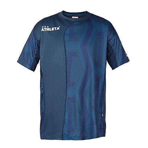 線乏しいメイエラATHLETA(アスレタ) メンズ フットサルウェア Tシャツ 総柄プラクティスシャツ 03311