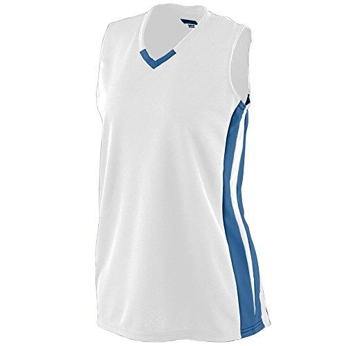 Augusta Sportswear Women's Wicking Mesh Powerhouse Jersey S White/Navy