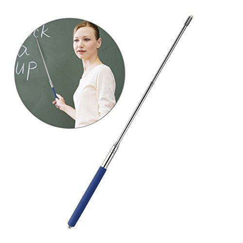 Tinksky Telescopic Teachers Pointer,Teaching Pointer,Hand Pointer Extendable Telescopic Retractable Pointer Handheld Presenter Classroom Whiteboard Pointer (Blue)