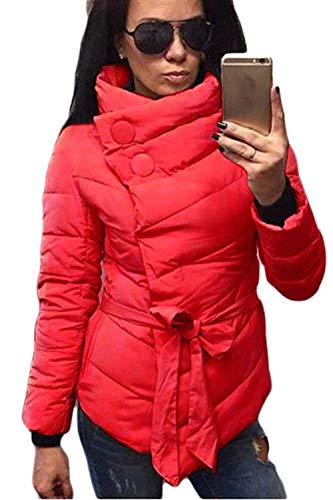 Jacket Mode Short Jacket Casual Elegant Fit Outwear Ladies Jacket Winter Quilted Warm Thicken Slim Coat Down Red Coat Adelina AfqP8