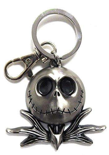 Nightmare Before Christmas Keychains (Nightmare Before Christmas Jack Head Pewter Key Ring)