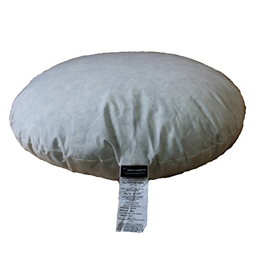 IZO All Supply 95% Feather 5% Down, 32 Inch Diameter Round Decorative Floor Pillow Insert Throw Pillows Sham Stuffer
