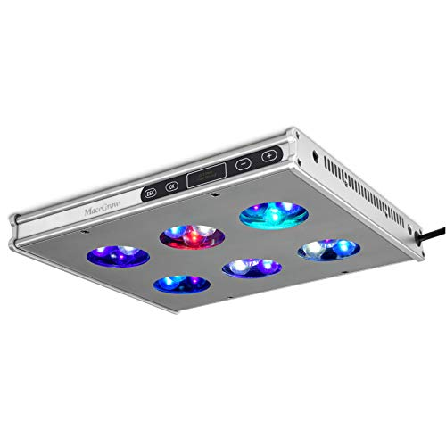 Macegrow LED Aquarium Light-Programmable Sunrise Sunset Sunlight Moonlight Timer Control 78w Full Spectrum Reef Light with Touch Screen Aluminum Housing for Coral Reef Fish Tank