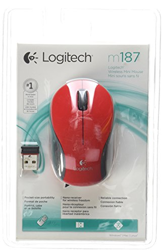 Logitech Mouse 2.4 Ghz, Red (910-002727)