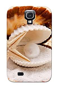 Galaxy S4 OpHYFoE2461cfxOC Pearl In The Seashell Tpu Silicone Gel Case Cover For Lovers