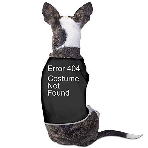 Error 404 Costume Not Found Halloween Geek Comedy Humor Pumpkin Pet Dog Vest Shirt (Comedy Of Errors Costume Design)