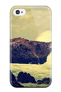 UpWtbZC23103mUcuX Lelean Boghorian Ocean Rocks Crash Digital Feeling Iphone 4/4s On Your Style Birthday Gift Cover Case