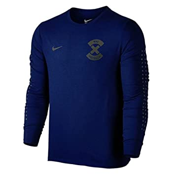 Nike X N & N Camiseta de Fútbol de Manga Larga, Hombre, Azul Costero/