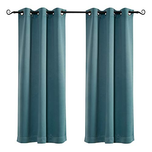MYSKY HOME Grommet top Thermal Insulated Window Blackout Curtains for Kids Room, 42 x 63 Inch, Teal, 1 Panel
