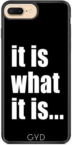 Coque Silicone pour Iphone 7 Plus / 8 Plus - Elle Est Ce Qu'elle Est (sur Le Noir) by BruceStanfieldArtist