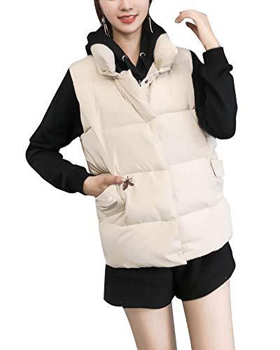 Droit Blanc Avec Sans Pour Taille Veste Col Femme Gilet Manches Grande zPx4v7