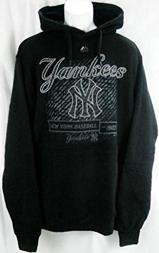 VF New York Yankees MLB Majestic Black Hood Scrape Hoodie Big & Tall Sizes (MT)