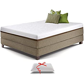 live and sleep resort ultra twin xl size 12inch cooling gel memory foam mattress with memory foam pillow twin extralong