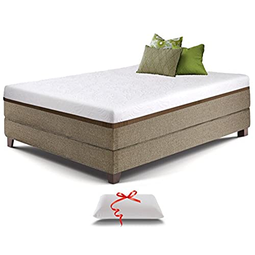 live and sleep resort ultra queen size 12inch mediumfirm cooling gel memory foam mattress with premium form pillow certipur certified