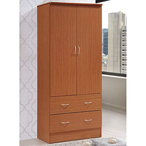 Pemberly Row 2 Door Armoire with 2 Drawer in Cherry