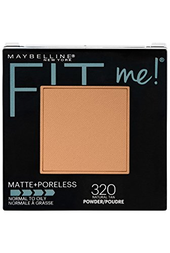 Maybelline New York Fit Me Matte + Poreless Powder Makeup, Natural Tan, 0.29 oz.