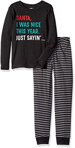 Crazy 8 Boys 2-Piece Long Sleeve Tight Fit Pajama Set, I was I was Nice -