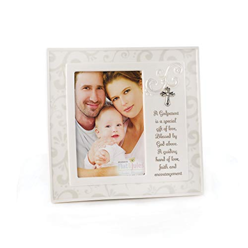 DEMDACO Godparent 8.5 x 8.5 Porcelain Picture Frame ()