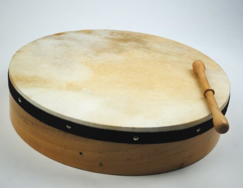 ProKussion 16 Inch Traditional Irish Bodhrán (Drum) and Rosewood Beater by Pro Kussion