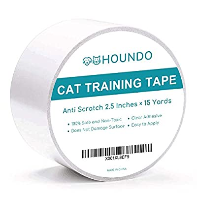 Cat scratching Houndo Anti-Scratch Cat Training Tape | Quickly Stops Cats from Scratching Furniture, Couch, Chair,  [tag]