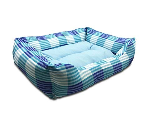 Happycare Textiles self cooling rectangle pet bed, 21x17 inches, sky blue