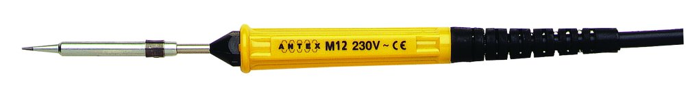 Antex S172470 M12 Soldering Iron with PVC cable, Yellow