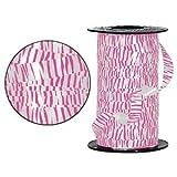 Hot Pink Zebra Print Curling Ribbon