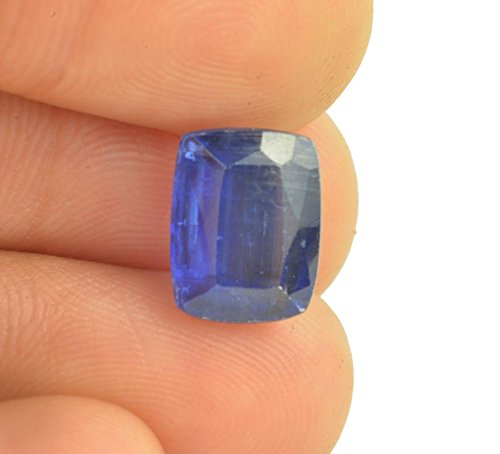 (Getgemstones 100% Natural Certified Very Square Shape Blue Kyanite Stone 3.5 Carat By)