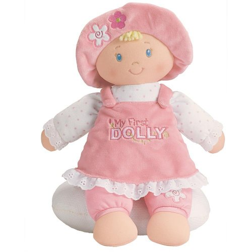 """Toy / Game Gund Baby M""""My First Doll"""" For Baby's First Toy With Bonnet Embroidered Flowers - For Ages 3 & Up"""