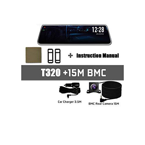 Move Cc Car Recorder Dvr Pro Stream Rear View Mirror Car Registrar Dvr Video Recorder Dash Cam 24 Hours Camera Surveillance,T320-15Mbmc,No Card ()