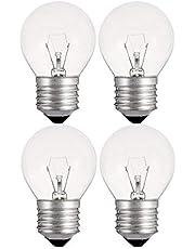 Lurrose 4 Pack LED Light Bulbs, 40 Watt Incandescent Bulbs, Clear Glass, E27 Base Lamp Bulbs for Wall Sconces, Ceiling Light