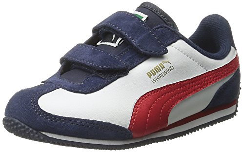 PUMA Whirlwind L V Kids-K, Peacoat/White/High Formula, 5 M US Toddler