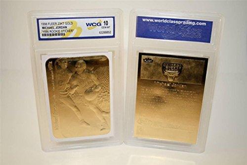 Michael Jordan 1986 Fleer Rookie 23KT Gold WCG Gem Mt 10 Sticker Rookie Card!