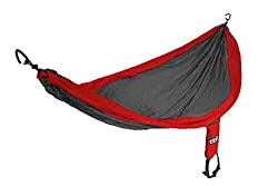 ENO Eagles Nest Outfitters - SingleNest Hammock, Portable Hammock for One, Red/Charcoal