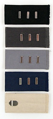 Home-X Easy Fit Hooks for Slacks, Waistband Extenders to Give You a More Relaxed Feel, 5 Color Set (1/2 - 2 Extension)