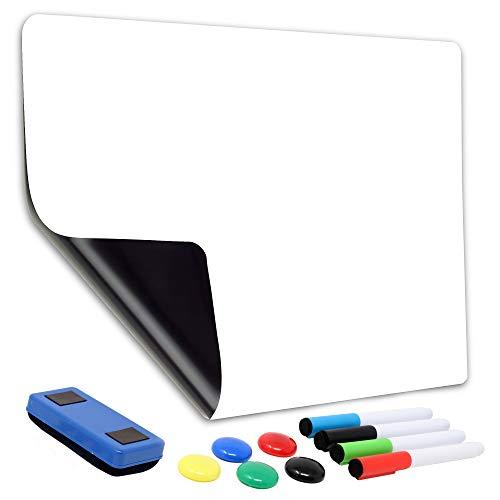 Magnetic Dry Erase Whiteboard Sheet for Refrigerator | Large 13