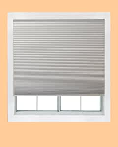 Easy Elegance, 30-inch-by-64-inch, Trim at Home (fits windows 20-inches to 30-inches wide) Cordless Honeycomb Cellular Shade, Black Out, White