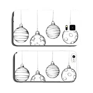 Hand-drawn Christmas tree balls cell phone cover case Samsung S5