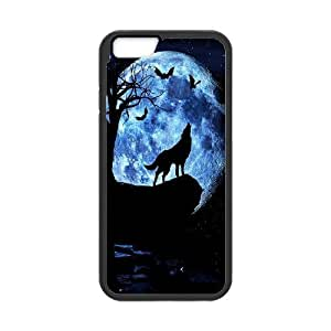 JamesBagg Phone case Wolf love noon,wolf pattern For Apple Iphone 6 Plus 5.5 inch screen Cases FHYY454321