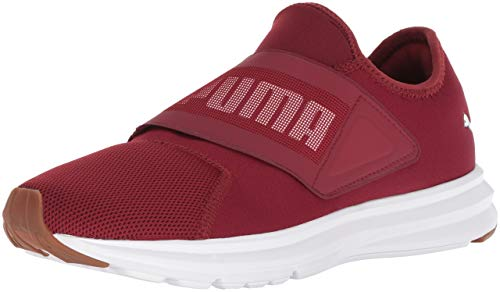 (PUMA Men's Enzo Strap Sneaker Pomegranate White, 11.5 M US)