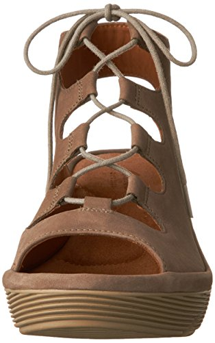 Clarks Clarene Grace Womens Wedge Sandals Sage Nubuck 8.5 SSOehKMGR