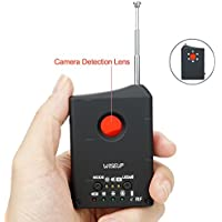 WISEUP Anti-spy Signal RF Lens Wireless Camera Detector GSM Device Finder Adjustable Detection Sensitivity